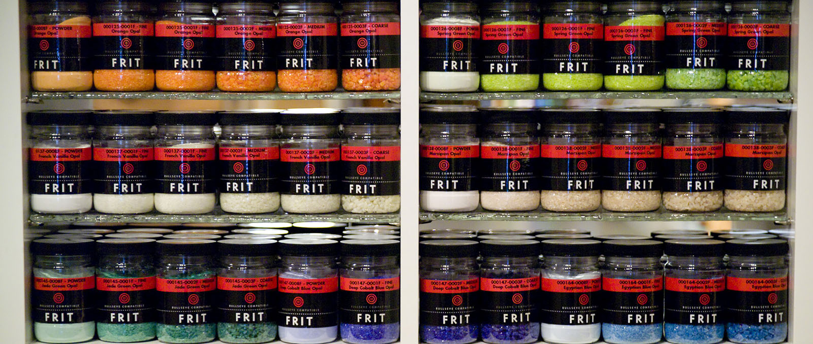small frit jar display